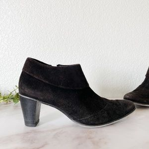 PAUL GREEN || Suede Ankle Shoe Boots